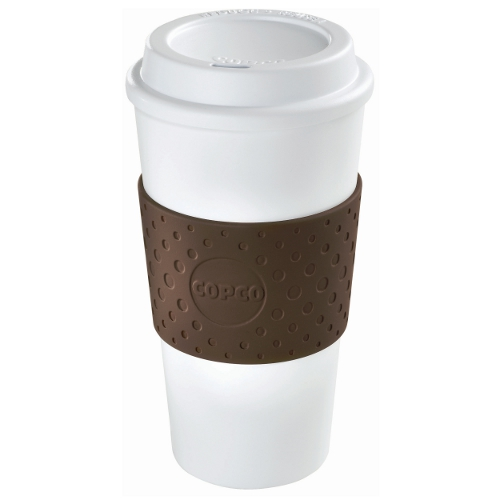 Copco Acadia Brown and White Insulated Travel Cup