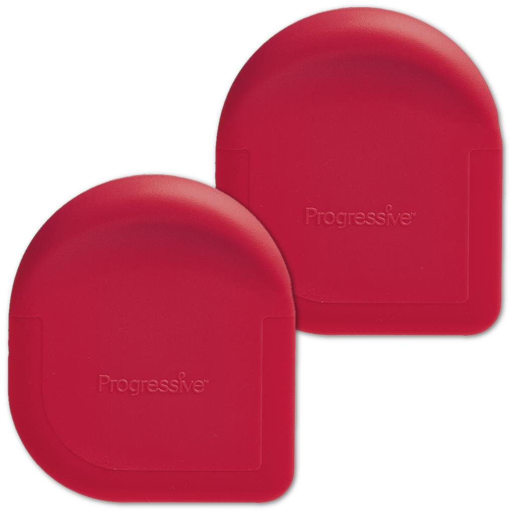 Progressive Red Pan Scraper, Set of 2