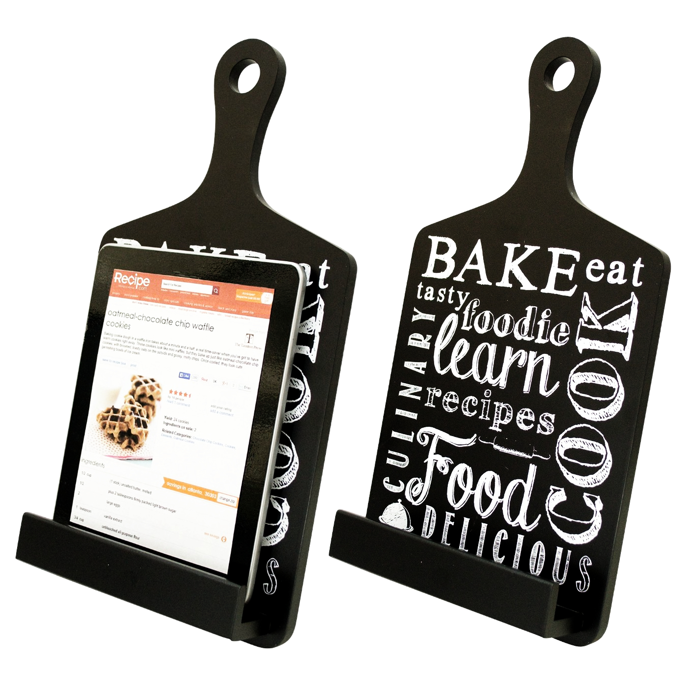 Boston Warehouse Wooden Black Bake Tablet Stand