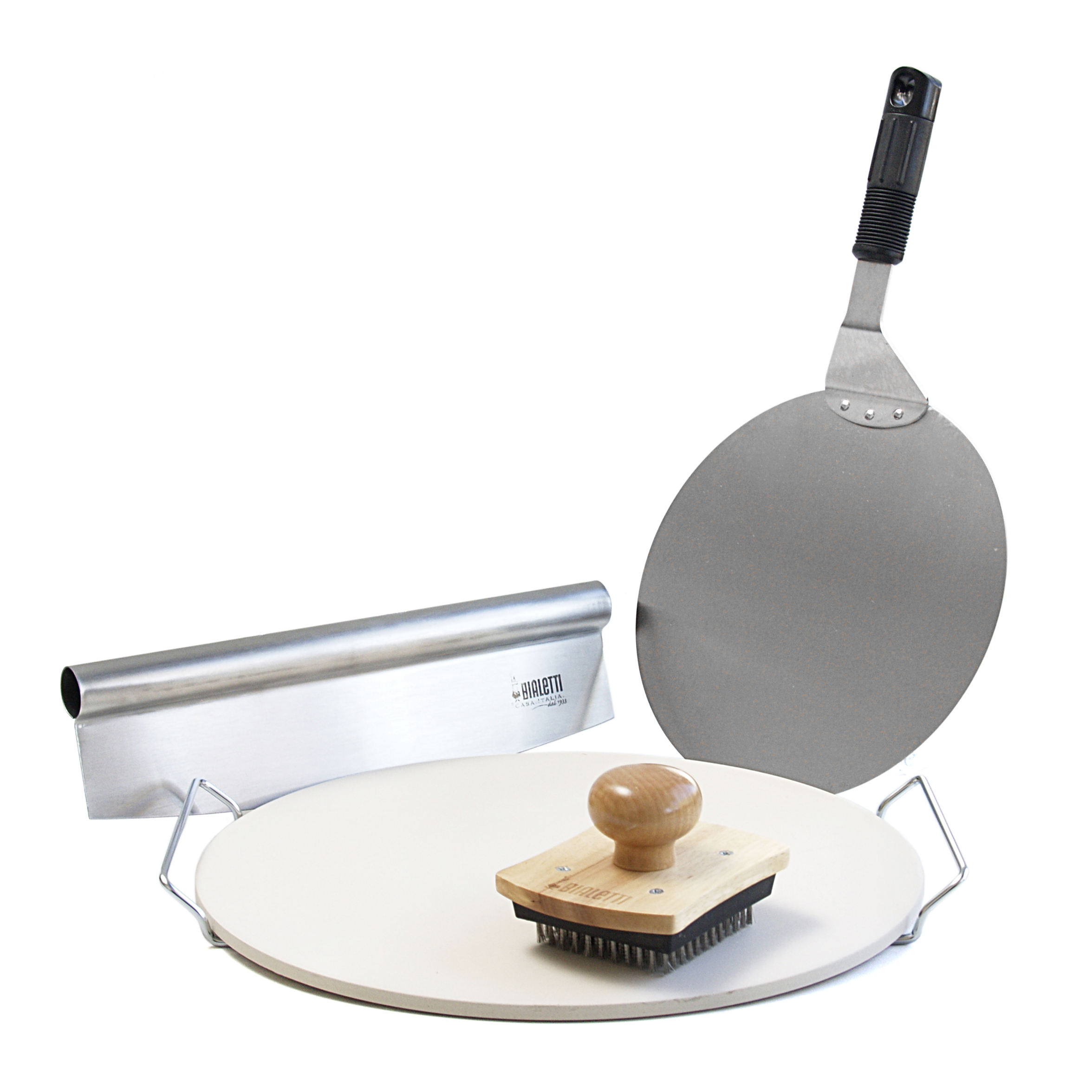 Bialetti At Home Pizza Kit with 14.75 Inch Round Pizza Stone