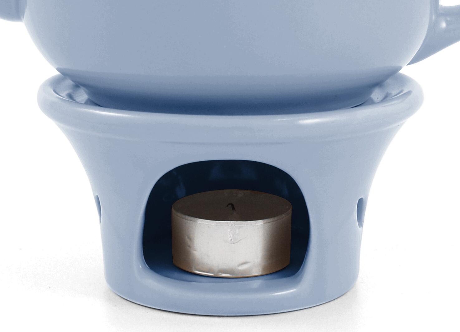 Metropolitan Tea Powder Blue Ceramic Teapot Warmer