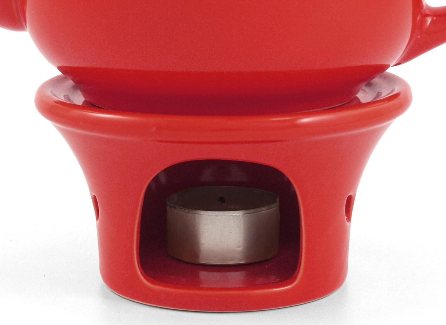 Metropolitan Tea Red Ceramic Teapot Warmer