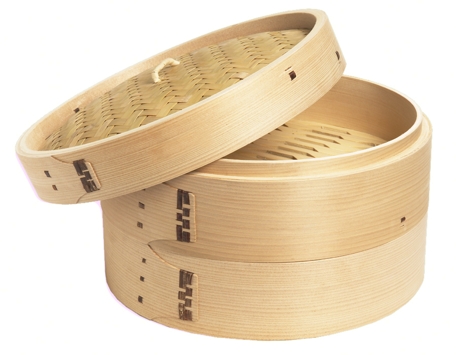 Bamboo Steamer, 3 Piece