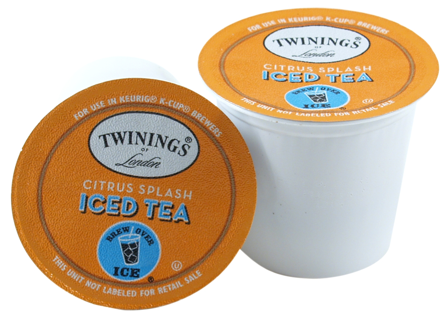 Twinings Citrus Splash Iced Tea Keurig K-Cup Packs, 72 Count - Exceeded Best-By Date