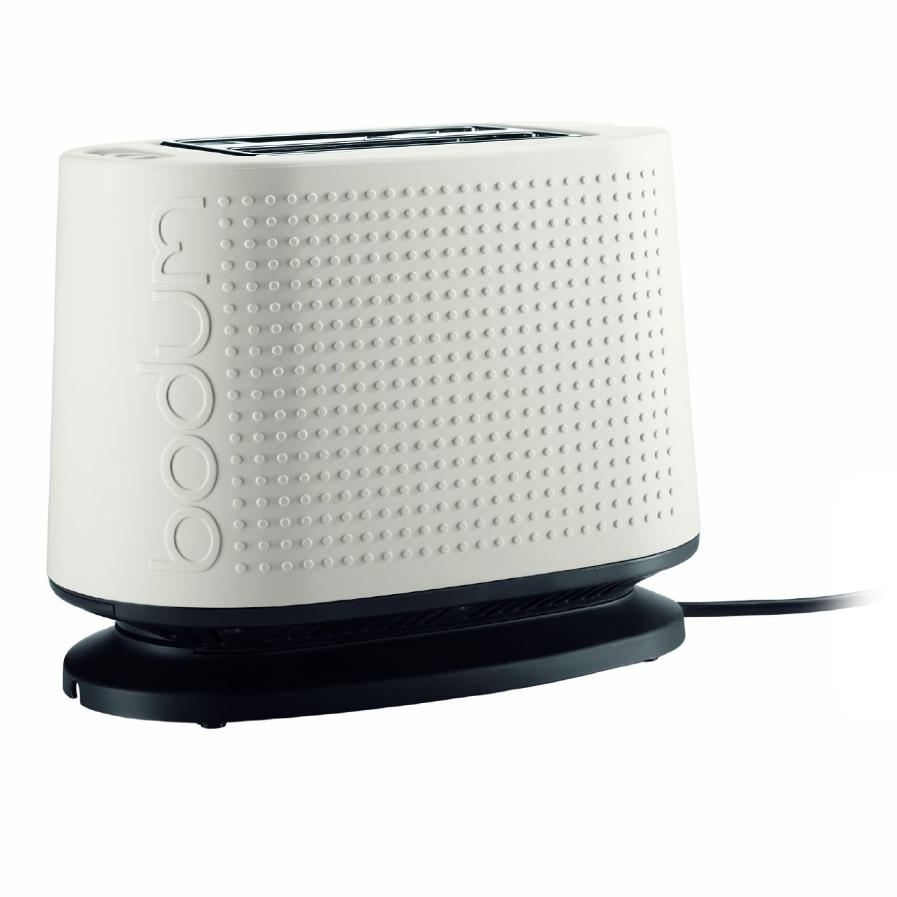 Bodum Bistro White 2 Slice Toaster with Defrost and Warming Rack