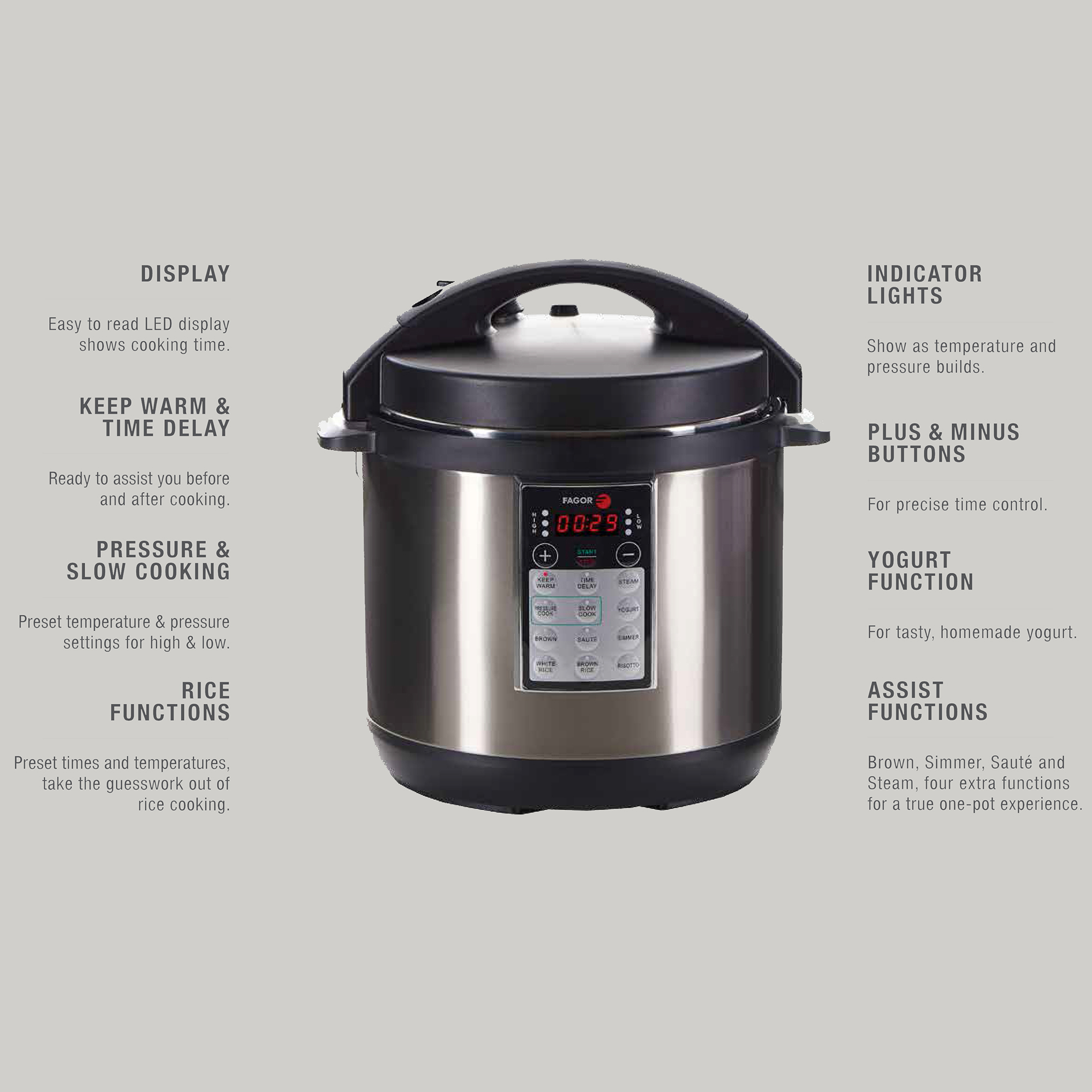 Fagor LUX™ Electric 6 Quart Multi Cooker