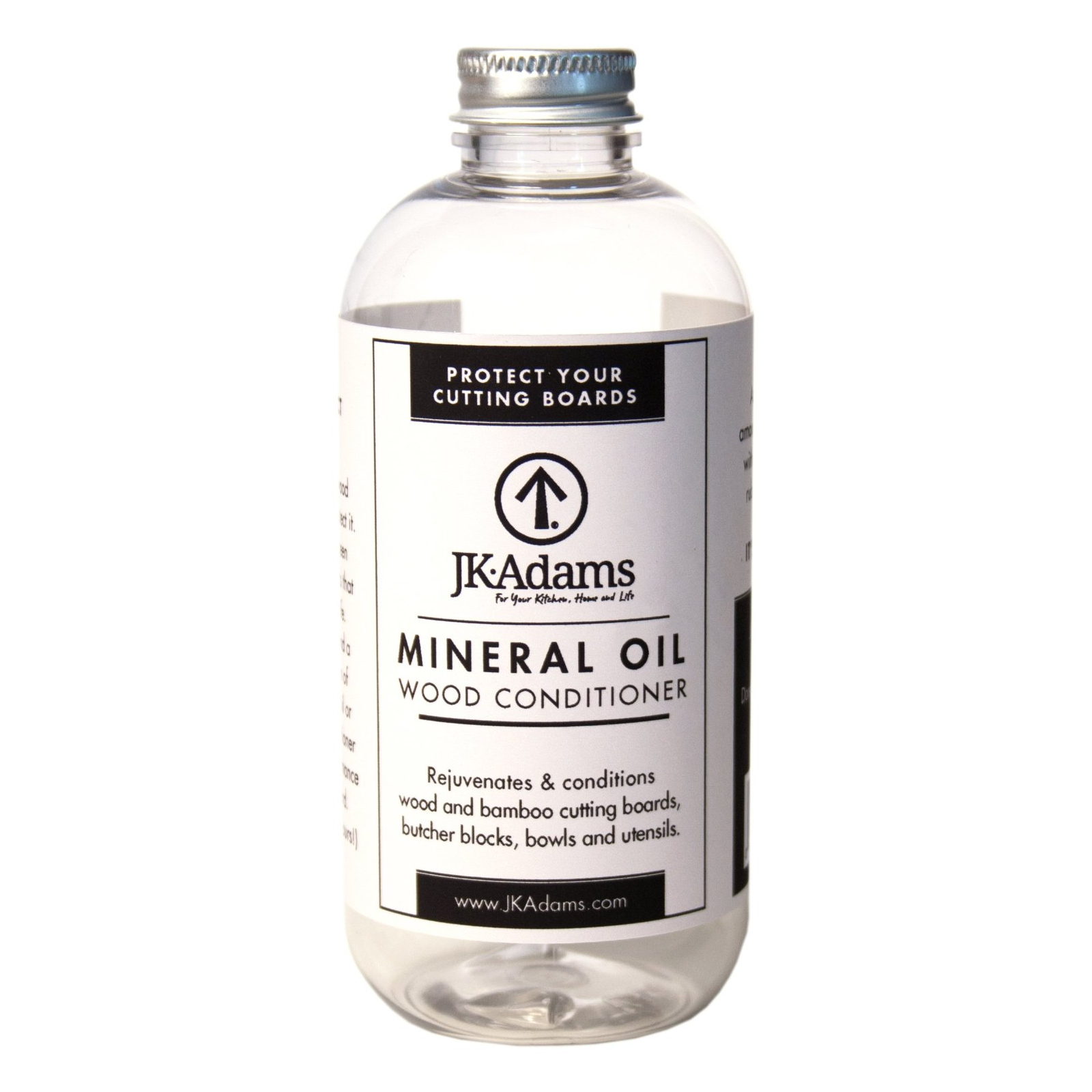 JK Adams 8 Ounce Mineral Oil Wood Conditioner Bottle