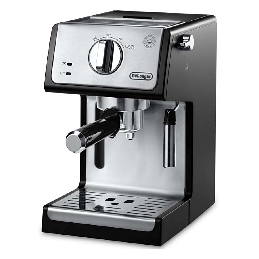 Delonghi Black Stainless Steel 15 Bar Pump Combination Espresso and Cappuccino Machine