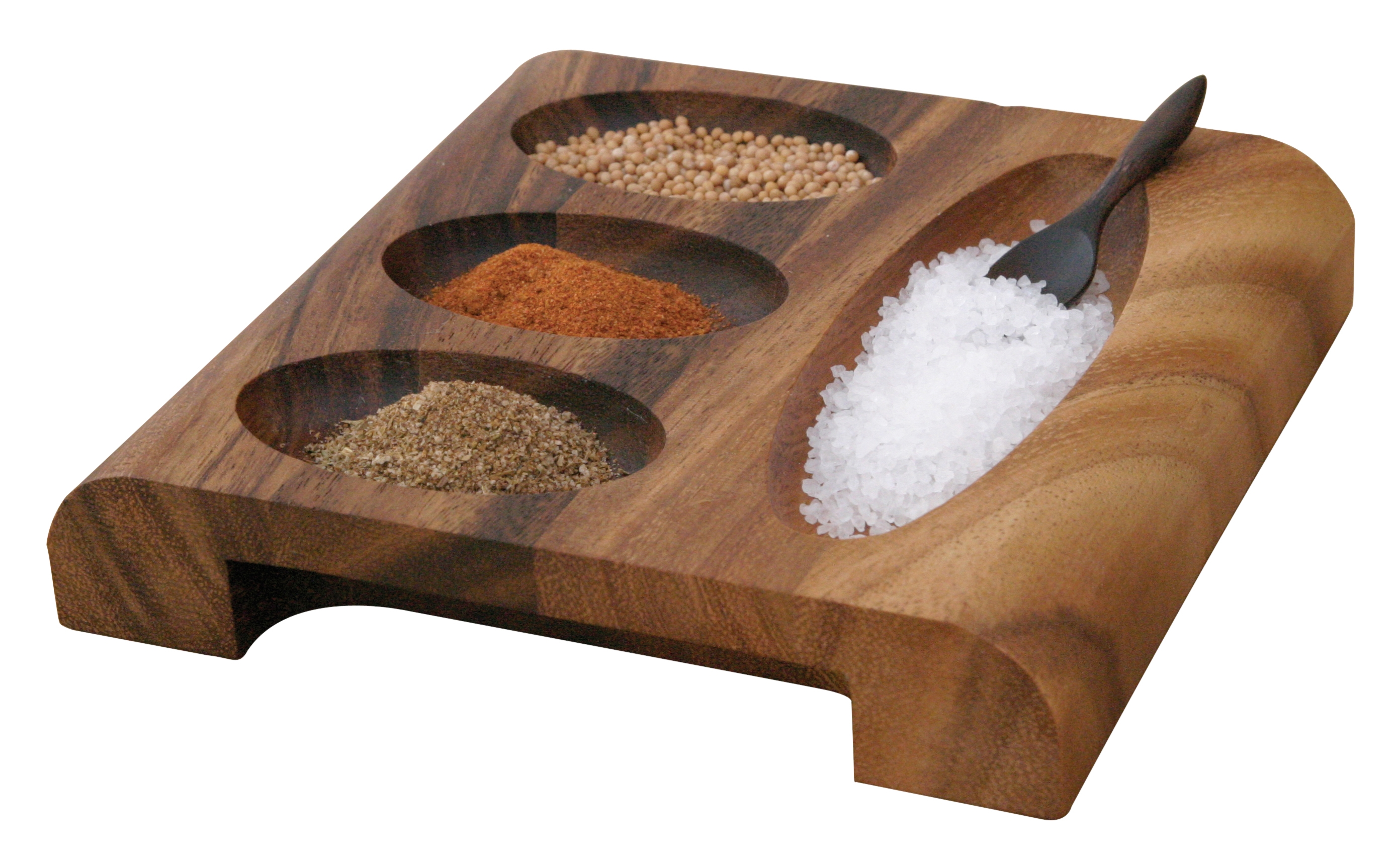 Ironwood Gourmet Acacia Wood Spice Tray