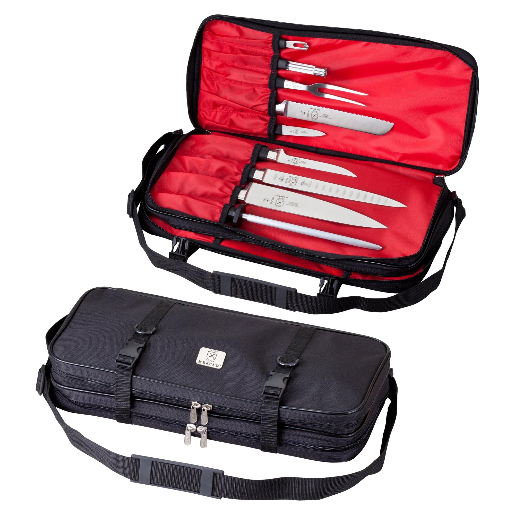 Mercer Black Nylon Double-Zip Knife Case