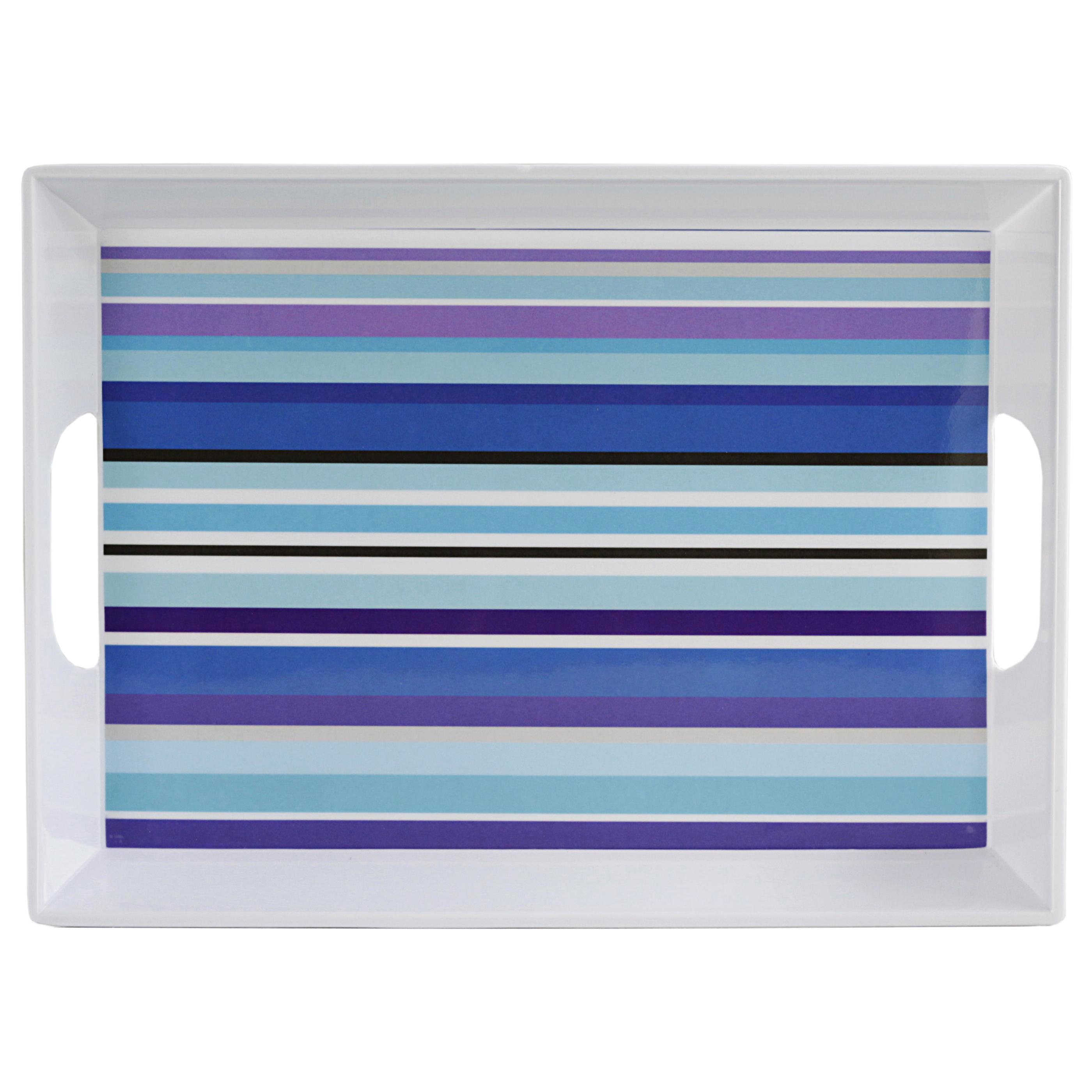 Typhoon Colored Stripes 16 x 11.75 Inch Breakfast Tray