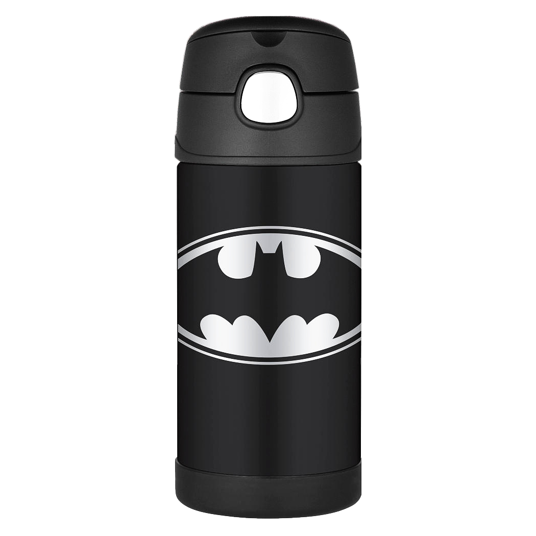 Thermos Funtainer Batman TV Show Stainless Steel Vacuum Insulated 12 Ounce Water Bottle