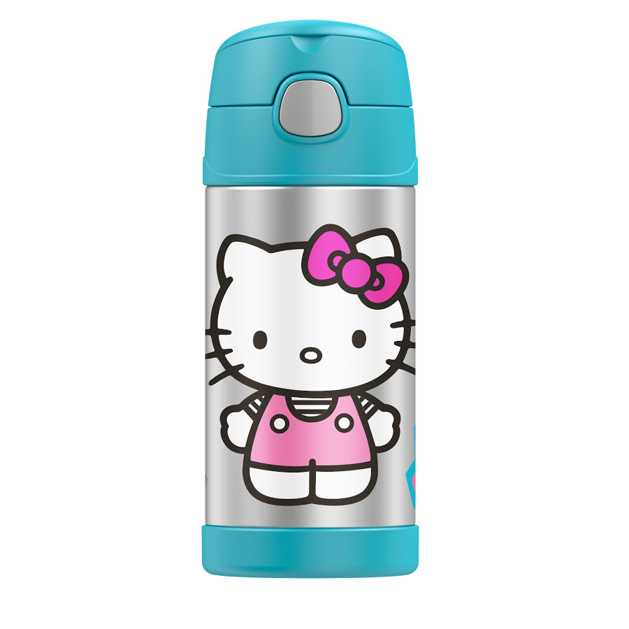 Thermos Funtainer Hello Kitty Character Stainless Steel Vacuum Insulated 12 Ounce Water Bottle