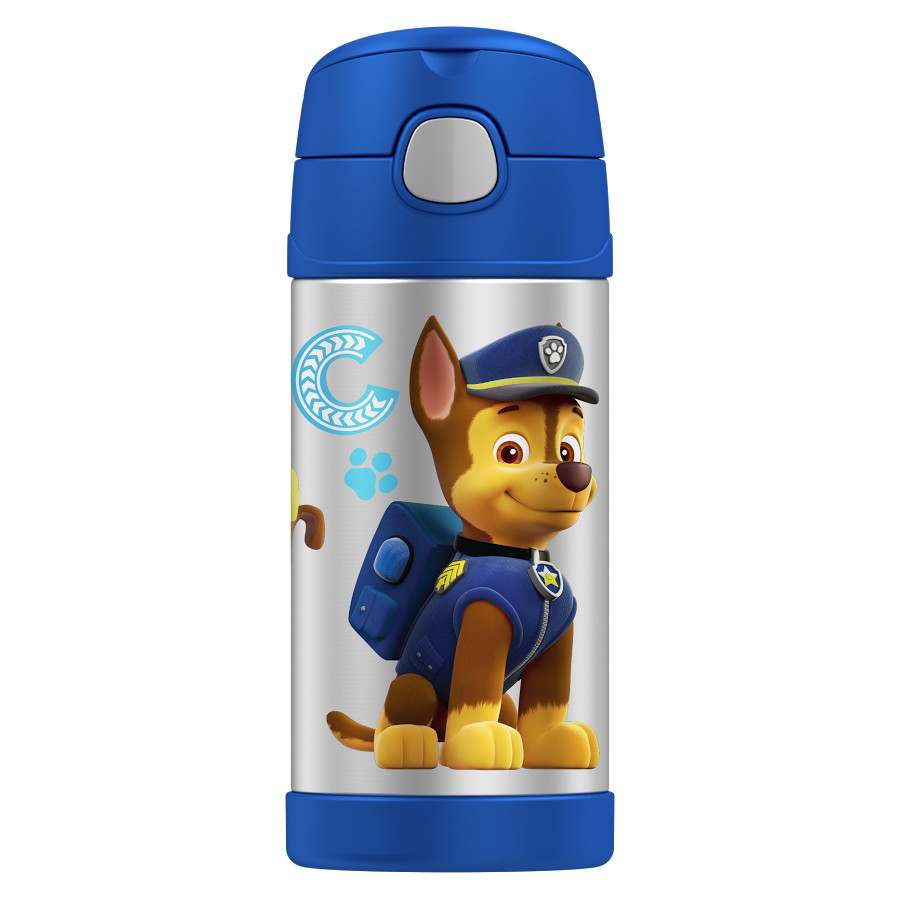 Thermos Funtainer Paw Patrol TV Show Stainless Steel Vacuum Insulated 12 Ounce Water Bottle