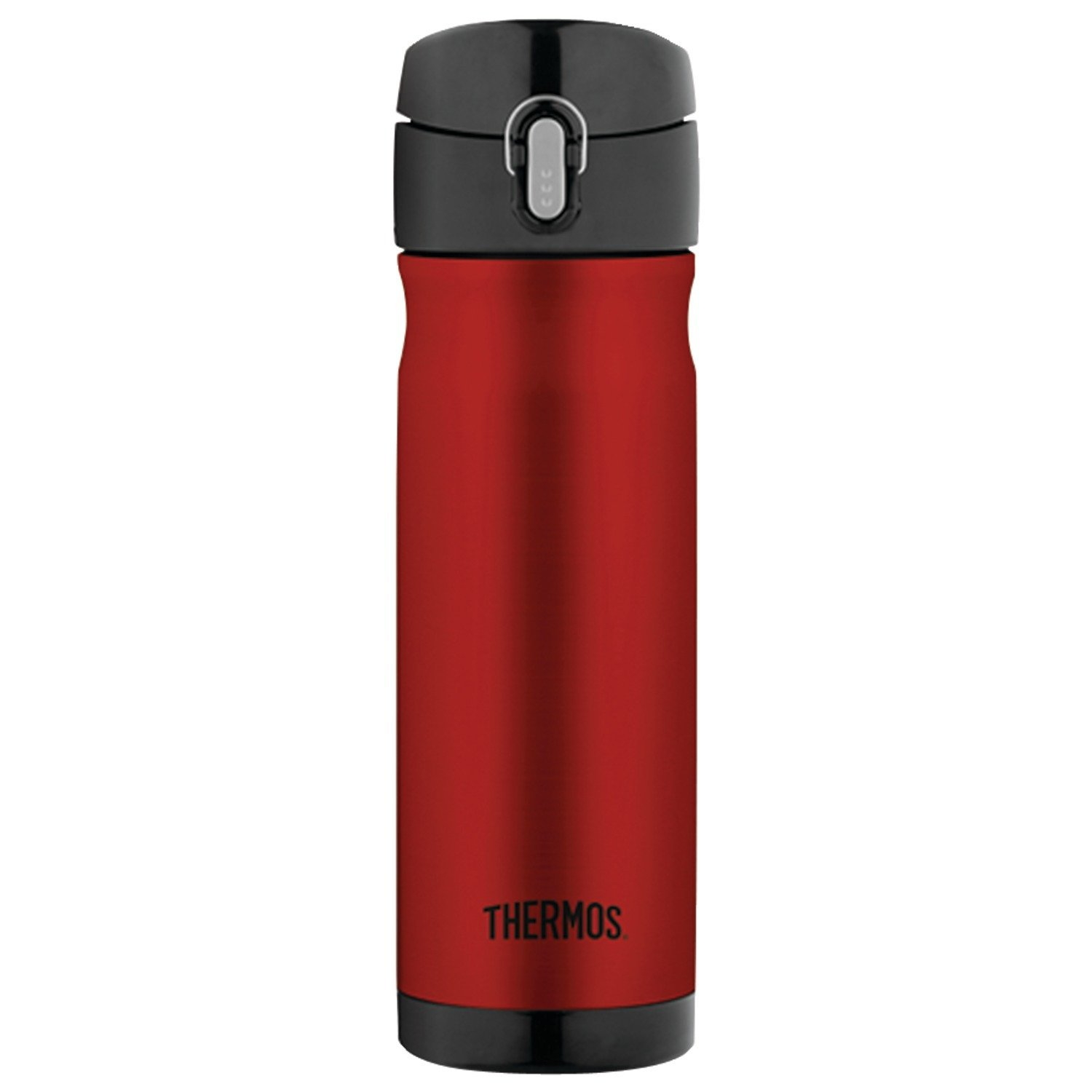 Thermos Cranberry and Black Stainless Steel Vacuum Insulated 16 Ounce Hydration Bottle