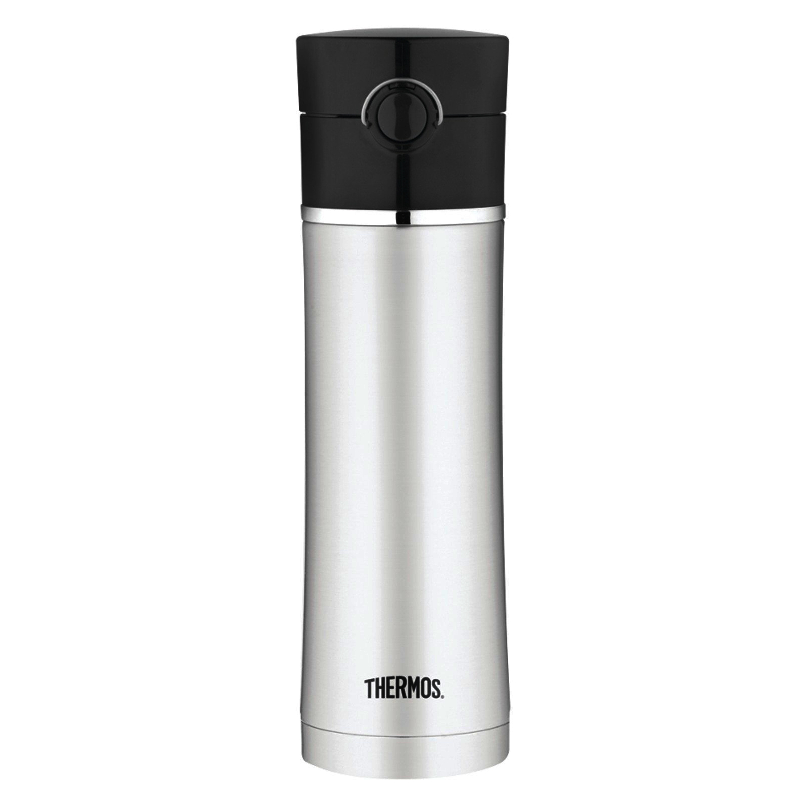 Thermos Sipp Stainless Steel Vacuum Insulated 16 Ounce Drink Bottle with Black Lid
