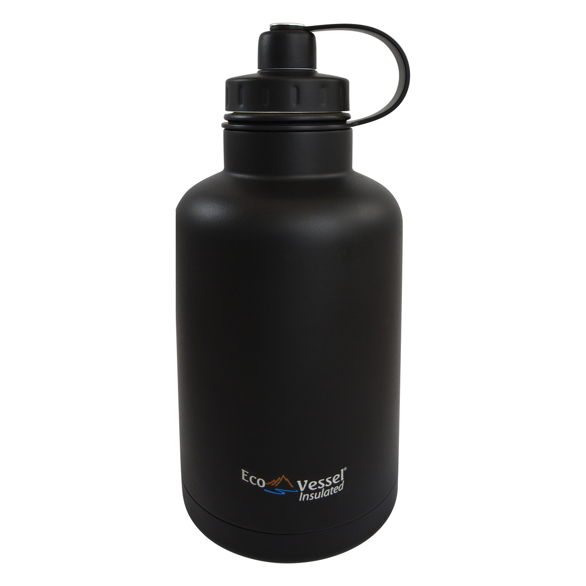 Eco Vessel Boss Black Shadow Stainless Steel Triple Insulated 64 Ounce Growler with Infuser