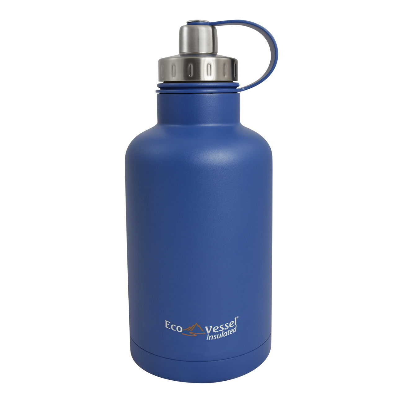 Eco Vessel Boss Hudson Blue Stainless Steel Triple Insulated 64 Ounce Growler with Infuser