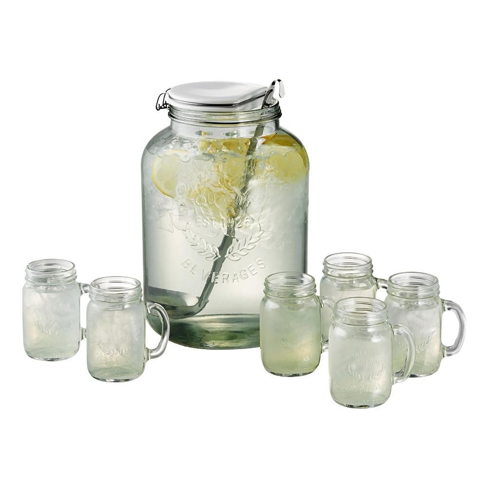 Artland Oasis Glass 8 Piece Mason Jar Punch Set