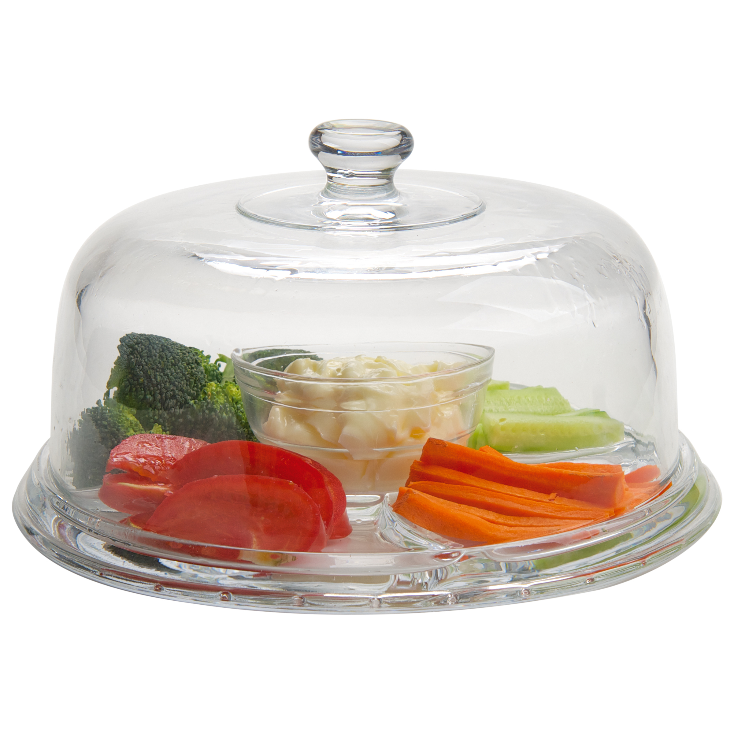 Artland American Diner 6-in-1 Glass Cake Dome Server