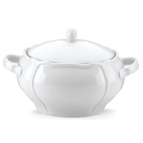 Lenox French Chefs Maria Porcelain White 2.5 Quart Soup Tureen