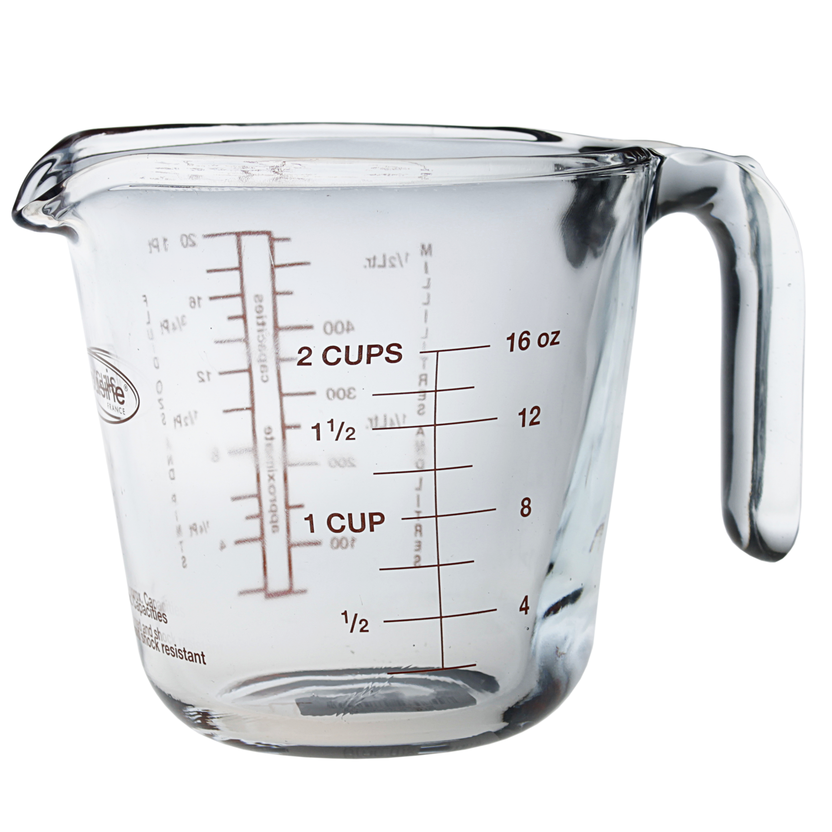 Arcuisine Glass 16.9 Ounce Measuring Cup