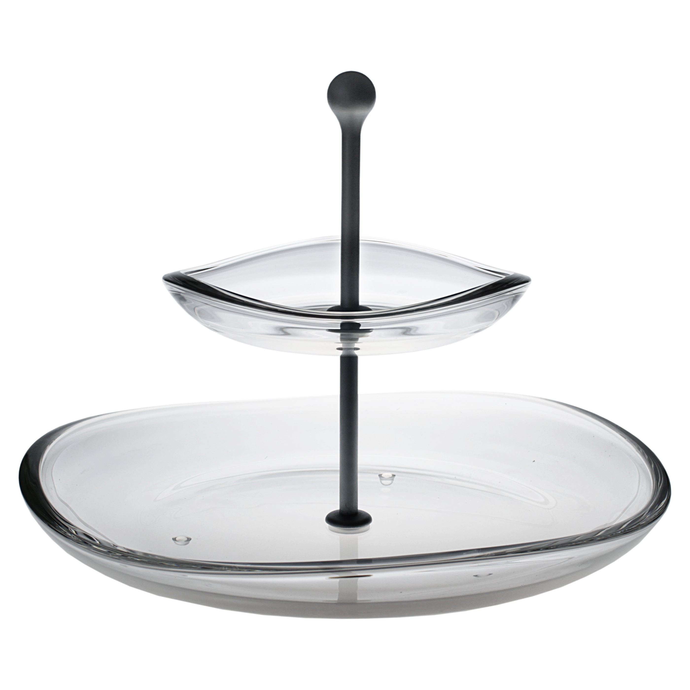 Walther Glass Flow Clear 9.8 Inch 2 Tier Server
