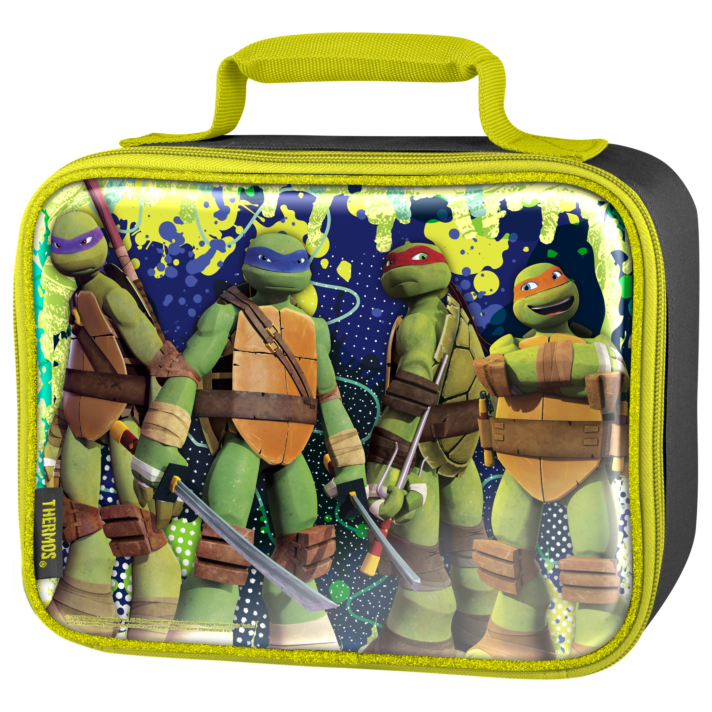 Thermos Teenage Mutant Ninja Turtles TV Show 7.5 x 9.5 Inch Insulated Soft Lunch Bag
