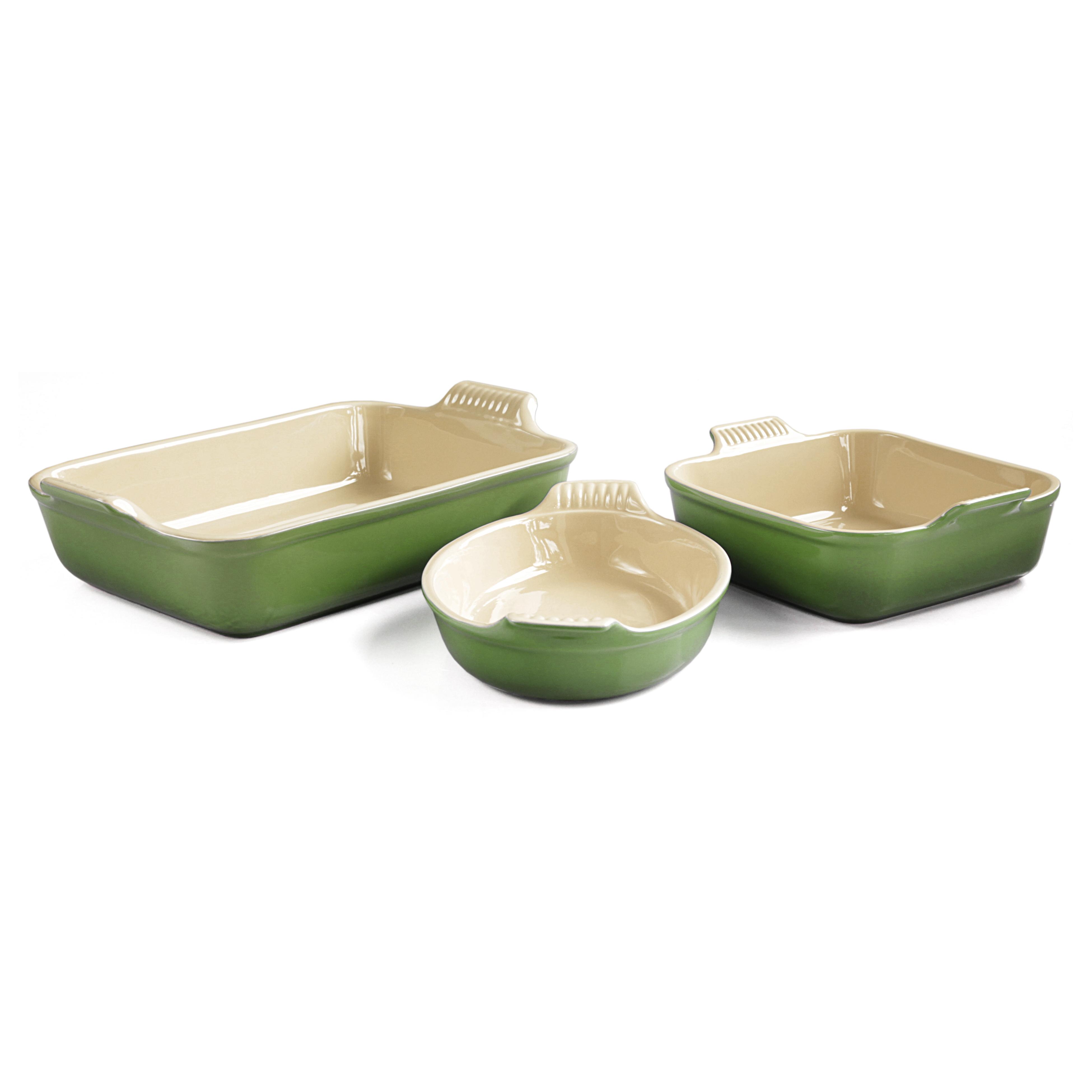 Le Creuset Heritage Palm Stoneware 3 Piece Bakeware Set