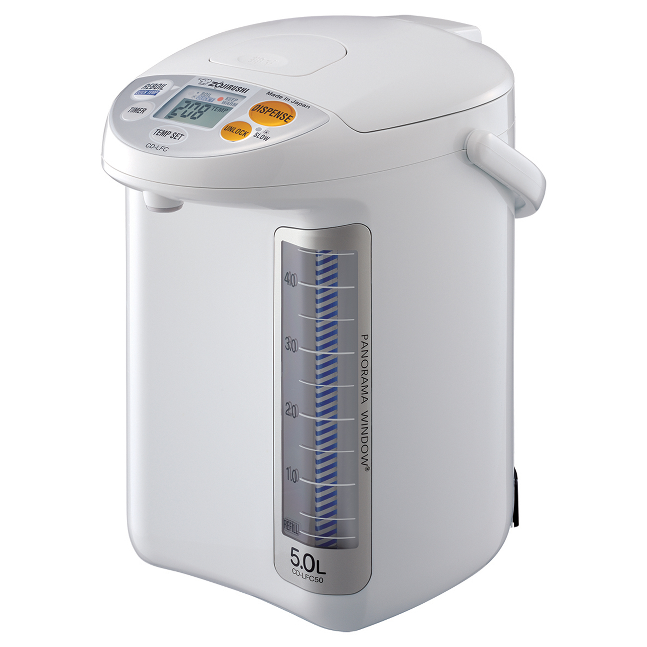 Zojirushi Micom Panorama White 169 Ounce Water Boiler and Warmer