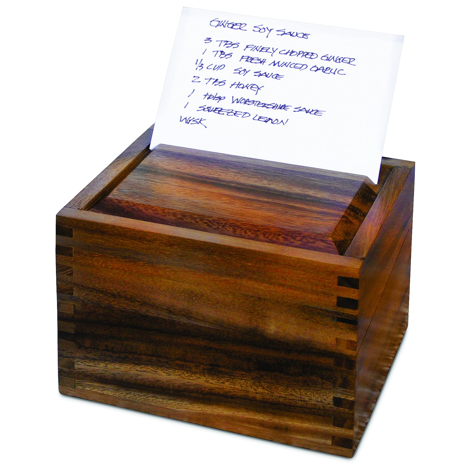 Ironwood Gourmet Acacia Wood Recipe Box