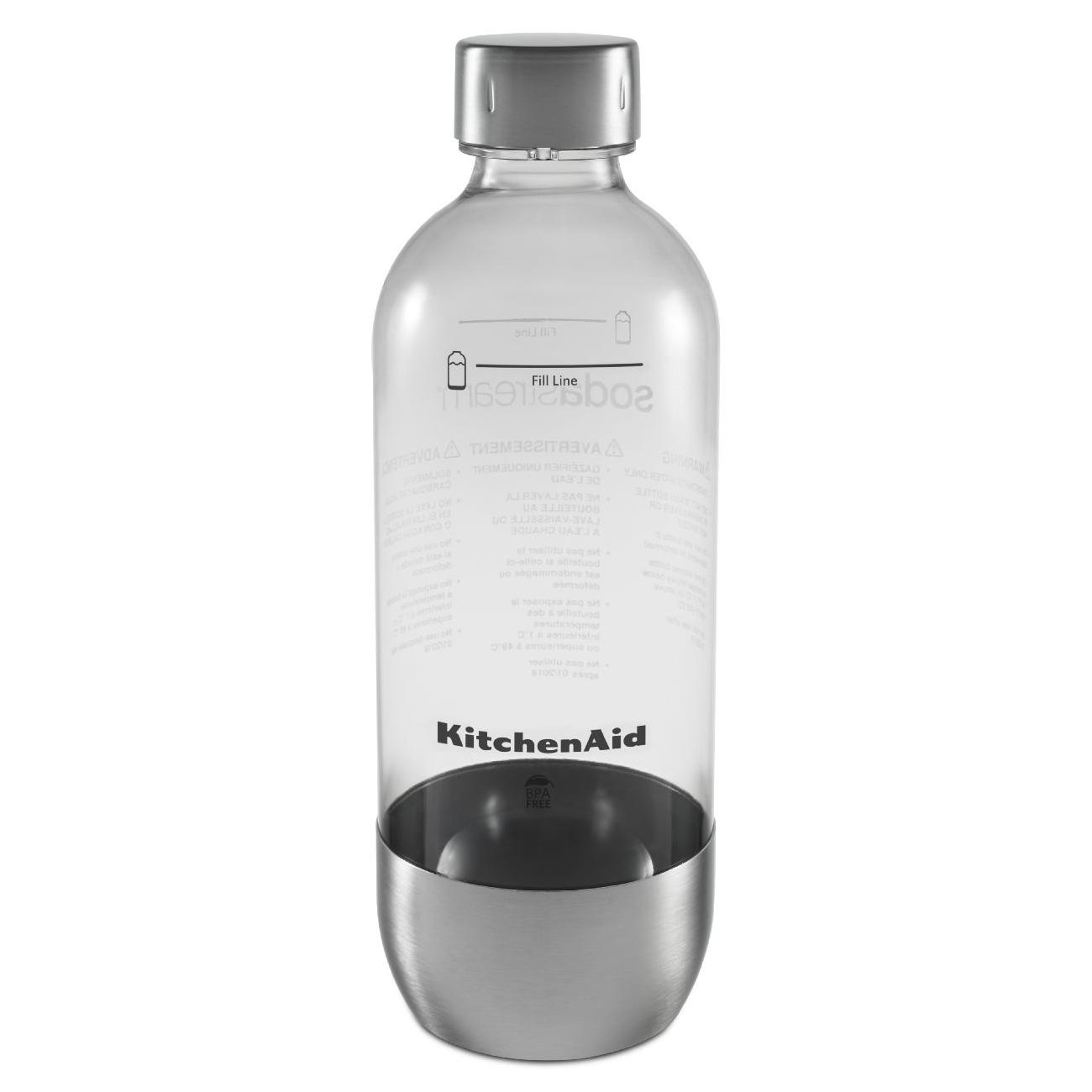 KitchenAid SodaStream Stainless Steel Reusable Carbonating Bottle for Sparkling Beverage Maker