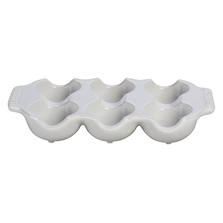 Le Creuset White Stoneware 6 Egg Carton