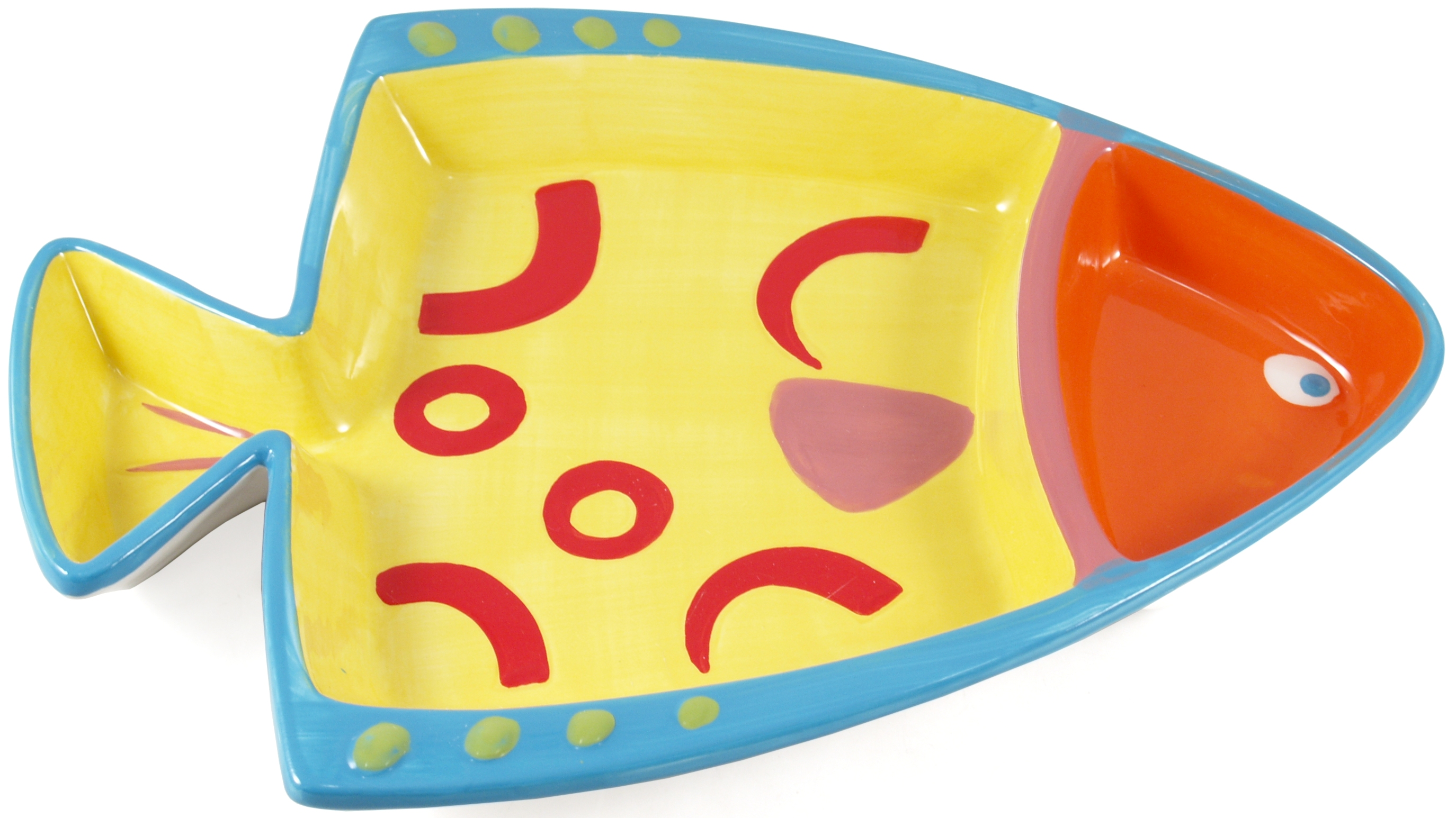 Boston Warehouse Go Fish Ceramic Chip and Dip Platter