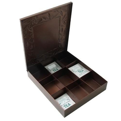 Old Dutch Copper 9 Compartment Tea Bag Storage