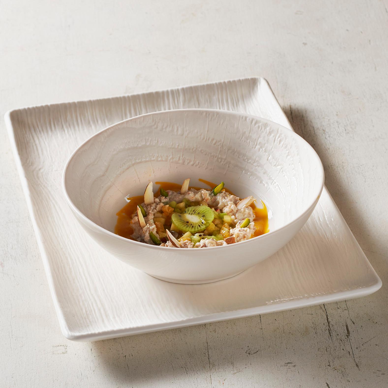 Revol Arborescence Ivory Porcelain 7.5 Inch Soup Bowl