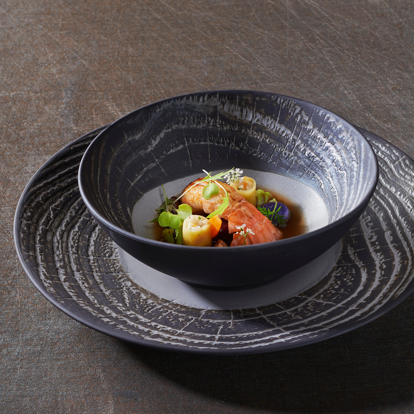 Revol Arborescence Pepper Porcelain 12.25 Inch Charger Plate