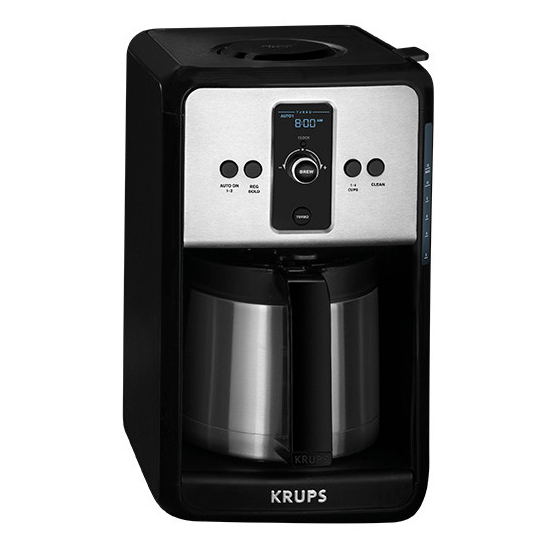 Krups Turbo Savoy Black 12 Cup Programmable Thermal Coffee Maker