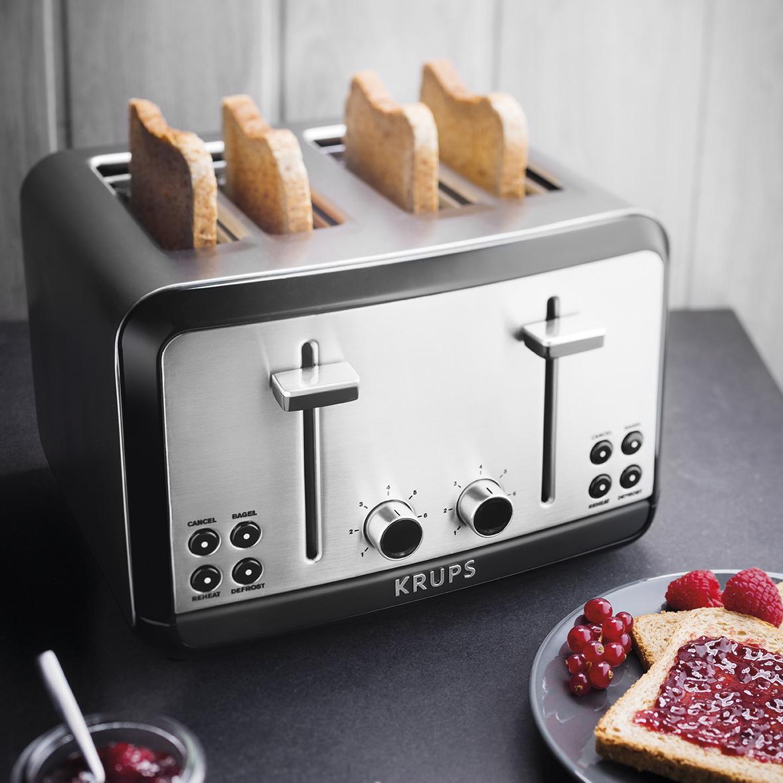 Krups Savoy Stainless Steel 4-Slice Toaster