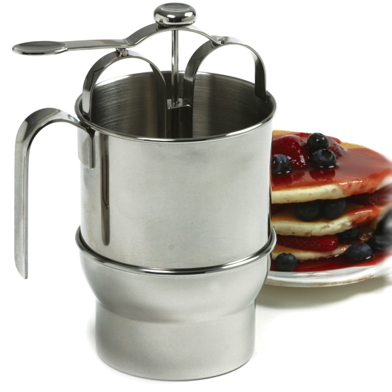 Norpro Jumbo Stainless Steel Pancake Batter Dispenser with Holder
