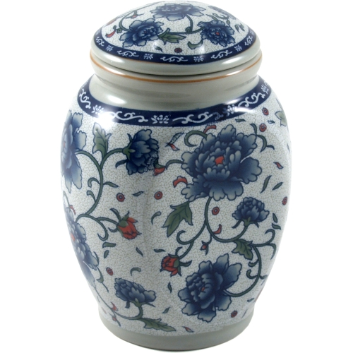 White and Blue Flower Porcelain Tea Canister