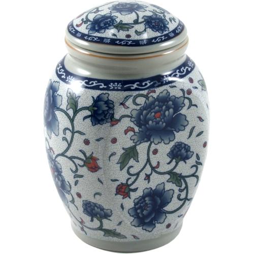 White and Blue Flower Porcelain Tea Canister