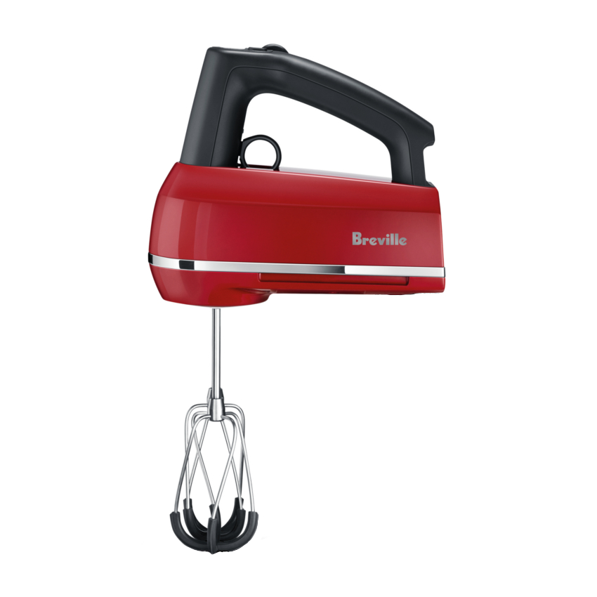 Breville Handy Mix Scraper Cranberry Hand Mixer