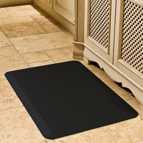 WellnessMats Black Standard Anti-Fatigue Mat, 3 x 2 Foot