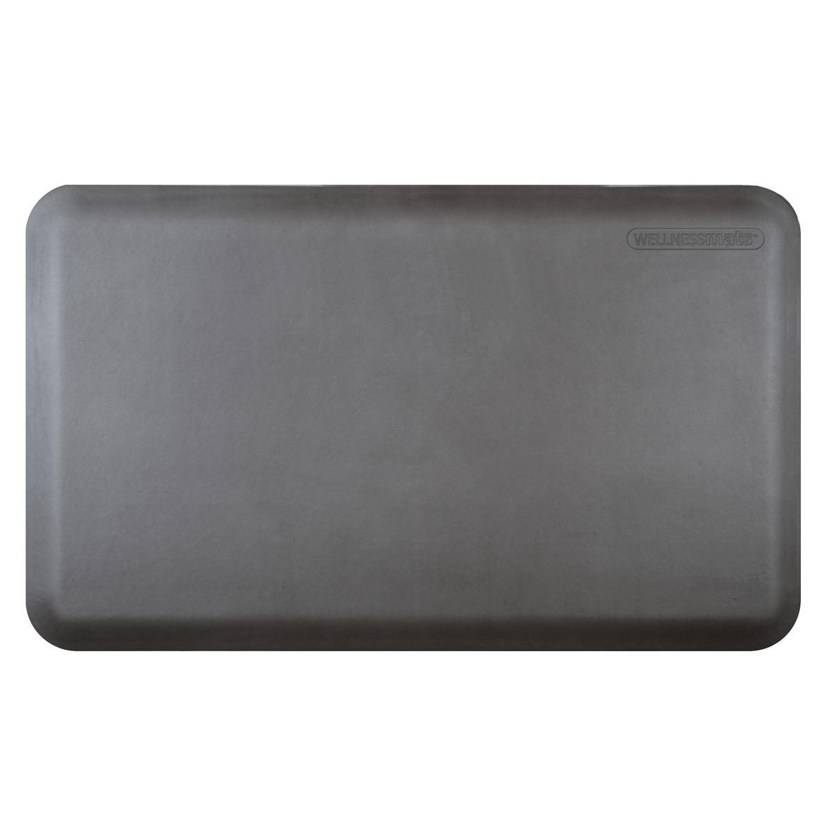 WellnessMats Gray Standard Anti-Fatigue Mat, 3 x 2 Foot