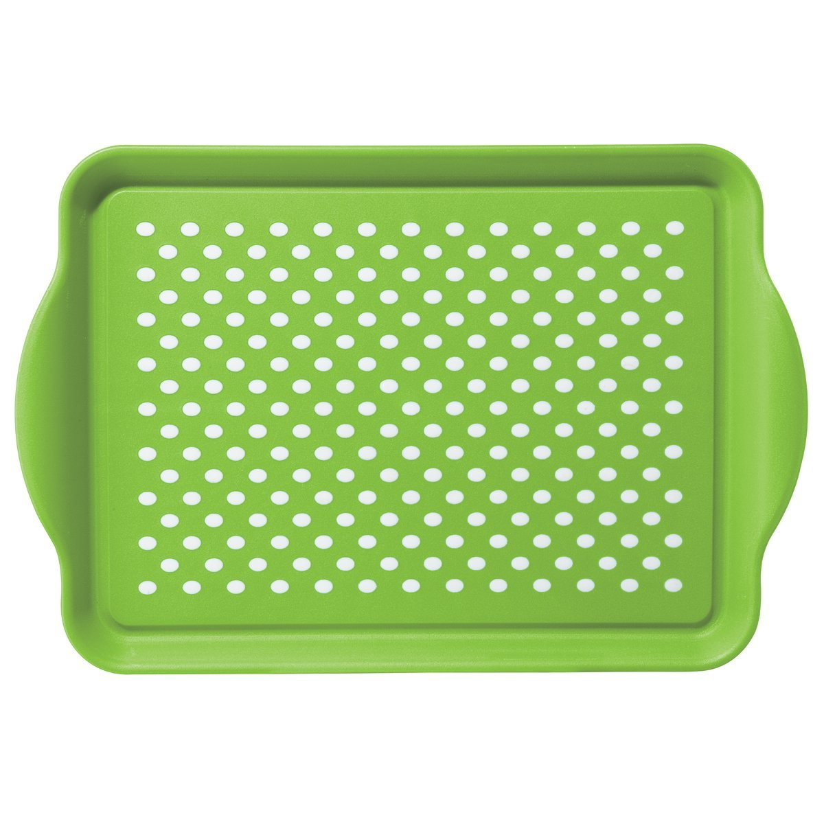 Oggi Rubbergrip Green Non-Skid Rectangular Serving Tray