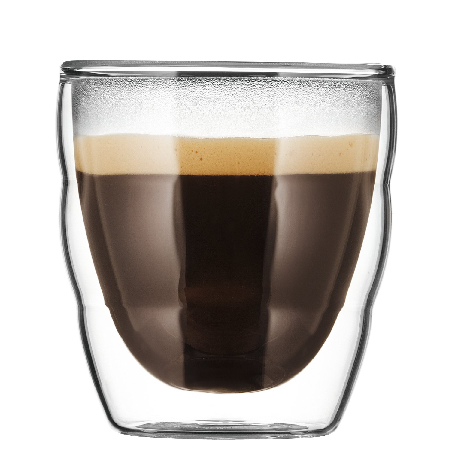 Bodum Pilatus 2.5 Ounce Double Walled Espresso Glass, Set of 2