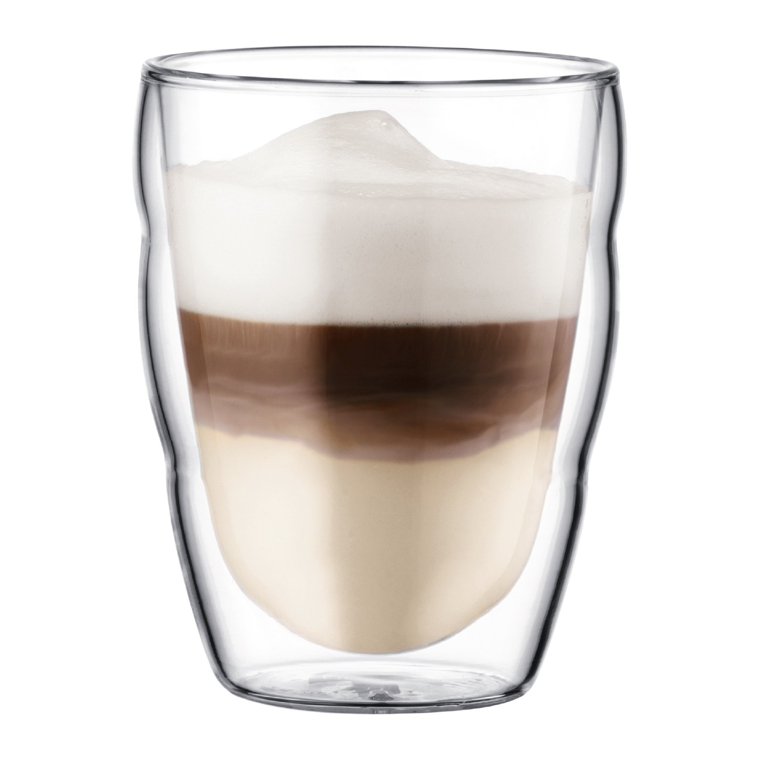 Bodum Pilatus 8 Ounce Double Walled Glass Cup, Set of 2