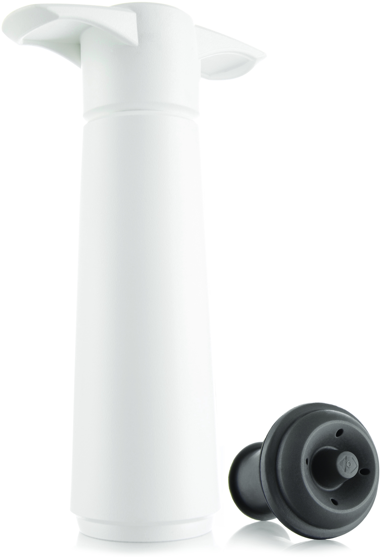 VacuVin White 3-Piece Wine Saver Pump and Stopper