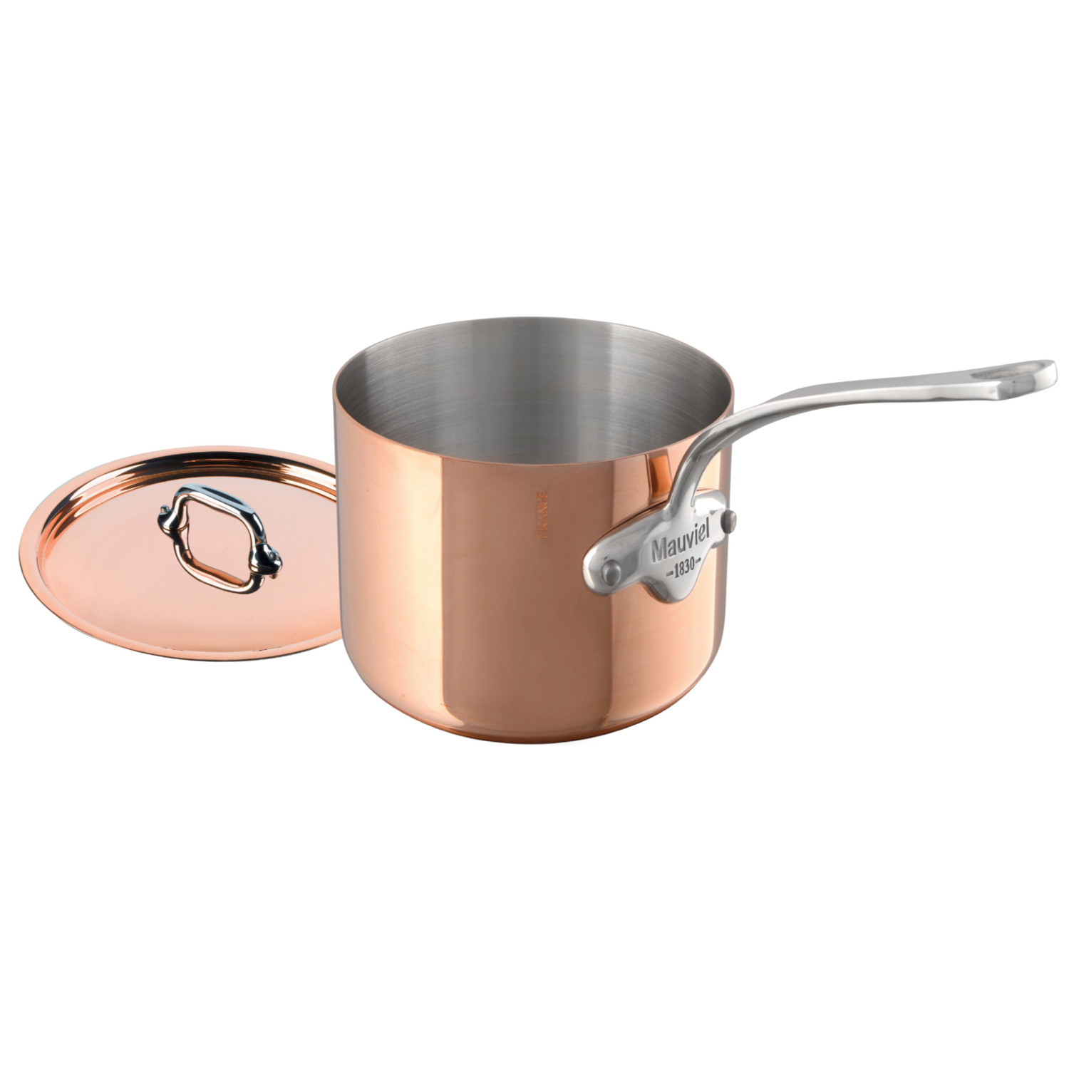 Mauviel M'cook Copper 3.6 Quart Saucepan and Lid